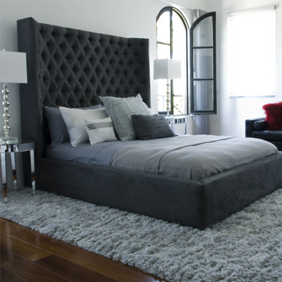 hazizacom contemporary art furniture and stunning acrylic designs - High Bed Frame Bedroom Furniture
